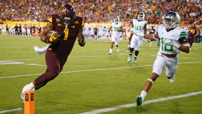 ASU receiver N'Keal Harry's size and strength has provided a reliable target for quarterback Manny Wilkins.