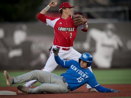 Louisville Cardinal infielder Tyler Fitzgerald (2)