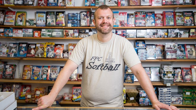 Leon Jicha Jr., owner of LJ's Sports Cards and Collectibles located at 171 Clinton St. in Binghamton.