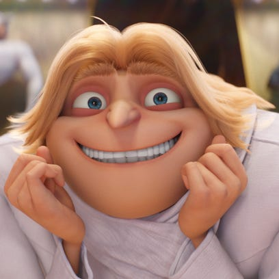 "Dru, the brother of Gru, in ""Despicable Me 3."" Both"
