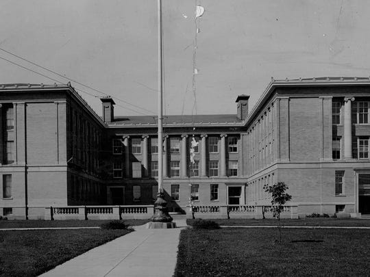 West High School is seen in this circa 1937 photo.