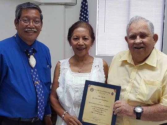 Jay Kaufman and Natividad Gelacio were wed May 1 at