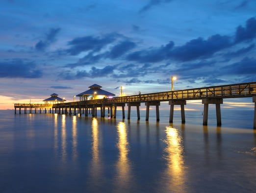 There's something undeniably appealing about a beautiful waterfront, and these 25 piers, promenades and boardwalks represent some of the country's most picturesque waterfront. Pictured here is the Fort Myers Pier in southwest Florida.