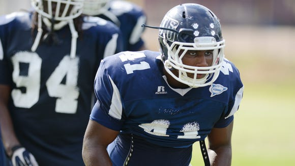 "JSU defensive end Teddrick Terrell said ""being disciplined"""