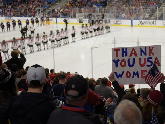 The U.S. Women's National team and players from Team