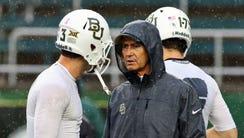 Former Baylor head coach Art Briles with quarterback