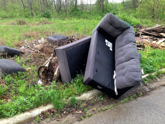 People have been illegally dumping trash on the city's south side on Brushwood Drive.