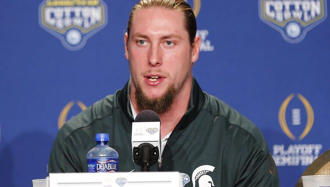 """After Alabama running back Derrick Henry won the Heisman Trophy, MSU's Riley Bullough, above, tweeted at Henry """"all in good fun."""""""