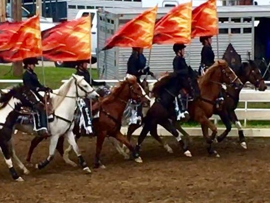 The NKY horse drill team was invited to perform at