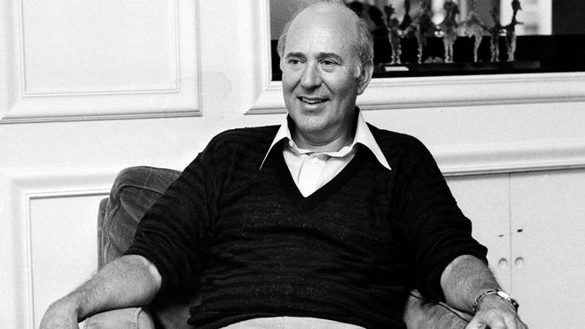 "In this Oct. 3, 1977 file photo, writer-director Carl Reiner appears during an interview about his movie "" Oh God!"" in New York. Reiner, the ingenious and versatile writer, actor and director who broke through as a ""second banana"" to Sid Caesar and rose to comedy's front ranks as creator of ""The Dick Van Dyke Show"" and straight man to Mel Brooks' ""2000 Year Old Man,"" has died, according to reports. Variety reported he died of natural causes on Monday night, June 29, 2020, at his home in Beverly Hills, Calif. He was 98."