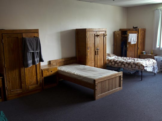 Sleeping quarters inside the Covenant House Crisis Center in Newark. The facility provides shelter for up to 40 homeless youth at a time. Many of its occupants are from the Shore communities.