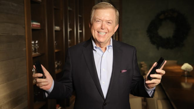 Fox Business Channel anchor Lou Dobbs never leaves home without two smartphones in his pocket. He was photographed at the St. Regis hotel in Dana Point, Calif.