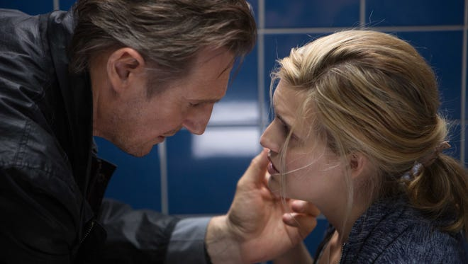 "Liam Neeson and Maggie Grace in a scene from ""Taken 3."""