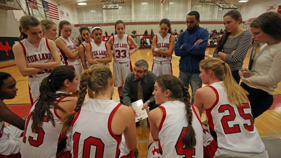 Fox Lane defeated Brewster 62-39 during girls basketball