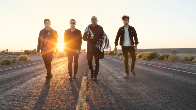 The members of Fall Out Boy, from left: Patrick Stump, Andrew Hurley, Pete Wentz and Joe Trohman