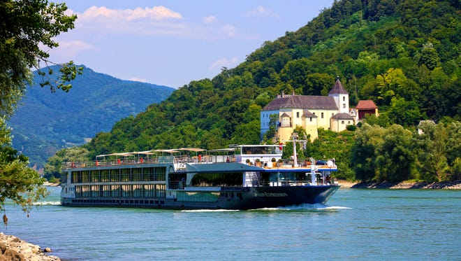 The Avalon Expression sailing on the Danube river.