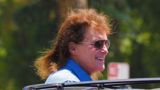 Bruce Jenner in August 2014 near his Calabasas, Calif.,  home.