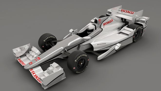 Honda's aero kit looks different than Chevrolet's for the 2015 IndyCar season.