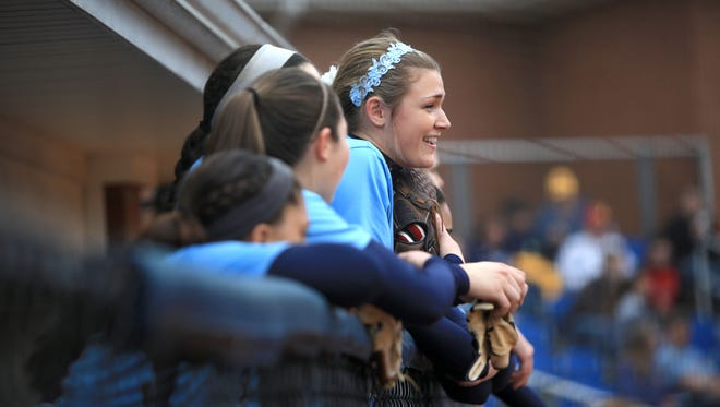 Katie Grace Olinger was the winning pitcher for Enka on Tuesday.