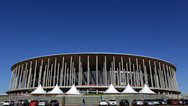 This April 29, 2014 file photo, shows the Mane Garrincha Stadium in Brasilia, Brazil.  Almost a year after the tournament ended, the nation is still trying to figure out what to do with some empty stadiums.
