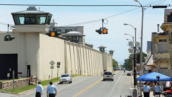 The exterior of the maximum-security Clinton Correctional Facility in Dannemora, N.Y.,  June 14, 2015. The search for the two convicted murders nears its second week.