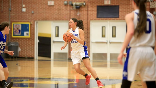 Franklin alum Vanessa Agrusa played in Monday night's East-West All-Star girls basketball game.