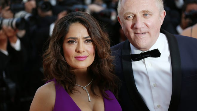 Francois Pinault's son, Francois-Henri Pinault, and wife Salma Hayek at the Cannes film festival in May 2015. Francois-Henri Pinault is chairman of Artemis, the Pinault family holding company that is buying Ponant Cruises.