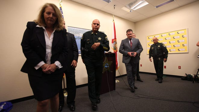 Lee County Sheriff Mike Scott along with members of the FBI  announced the out of state arrest of Jimmy Rodgers in the murder of Bonita Springs resident Dr. Teresa Sievers. He said the case is still ongoing.