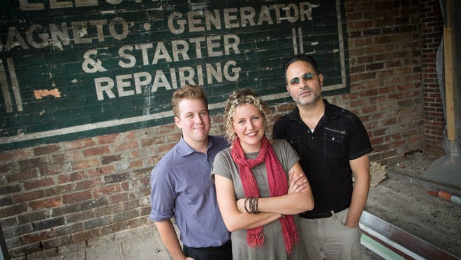 General Manager Max Wellman, left, and owners Maria and Bob Filippone plan to open a jazz club called Noce by the end of the year at 1326 Walnut St. in downtown's Western Gateway.