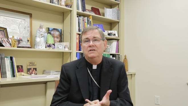 Bishop Timothy Doherty of the Diocese of Lafayette-in-Indiana said Friday, Sept. 25, 2015, there's a need for immigration reform. He felt encouraged in the church's mission to help immigrants after seeing Pope Francis during his historic visit to the United States.