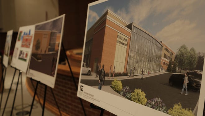 West Lafayette Community School Corp. unveiled a proposal Wednesday, Oct. 21 to spend almost $50 million on a new performing arts center (right) among several other additions and renovations.