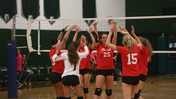 Fox Lane swept Brewster 25-23, 25-23, and 25-16 in