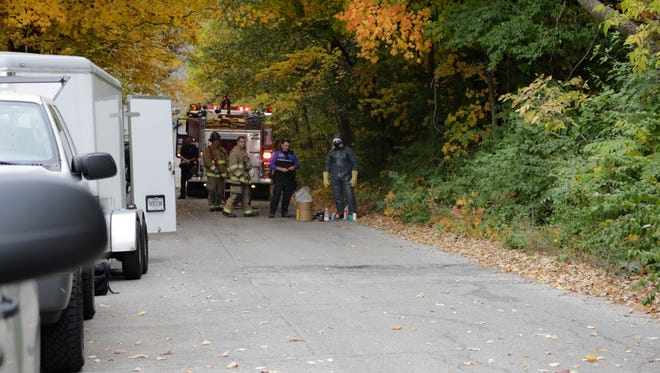Police and fire officials responded to an active meth lab on the 1200 block of Center St. on Fri. afternoon.
