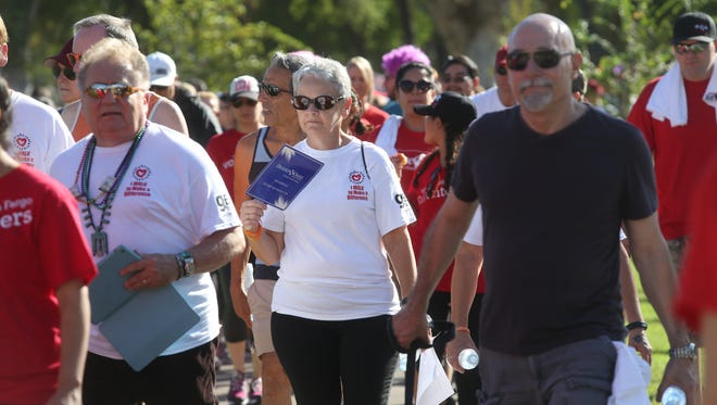Nearly 2,000 walkers took part in the 28th Desert AIDS Walk in Palm Springs.
