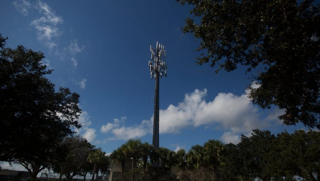 File photo of a cellular communications tower at Southwest Florida International Airport.