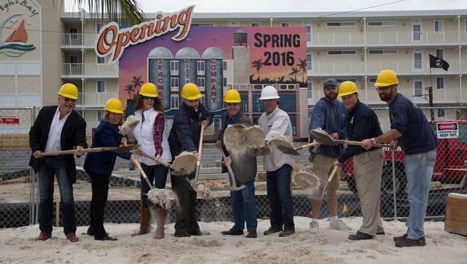 Seacrets' breaks ground on its distillery set to open May 2016.