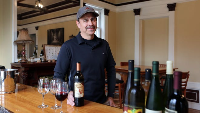 Owner Jonathan France in the tasting room at Torne Valley Vineyards in Hillburn.