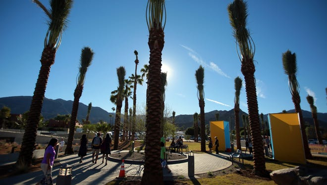 Scene at the Rancho Mirage Community Park on Saturday.