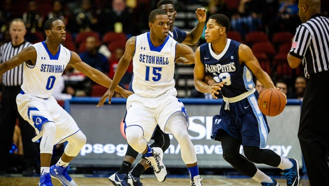 The Pirates have a talented backcourt in Khadeen Carrington (left) and Isaiah Whitehead