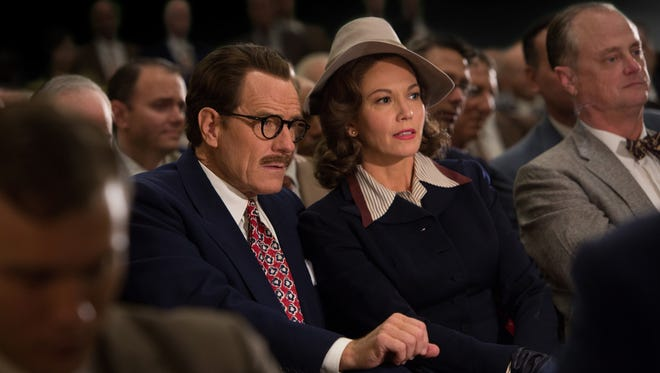 "Bryan Cranston (left) stars as Dalton Trumbo and Diane Lane (right) stars as Cleo Trumbo in Jay Roach's ""Trumbo,"" a Bleecker Street release."