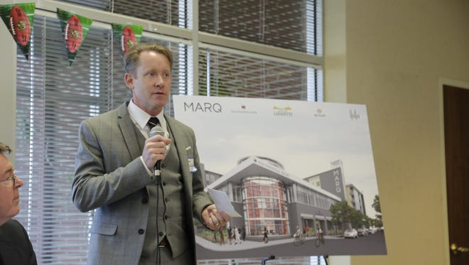 Craig Von Deylen of Deylen Realty, an Indianapolis-based development firm, discusses the new name of a $25 million project that officials say will become a downtown landmark.