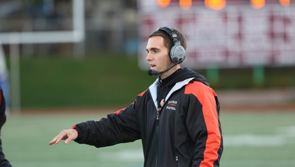 Tuckahoe coach Tom Itri, pictured at Dietz Stadium in Kingston in 2015, was named lohud.com's Football Coach of the Week after his team's 36-33 comeback win over Haldane in the Section 1 Class D championship.