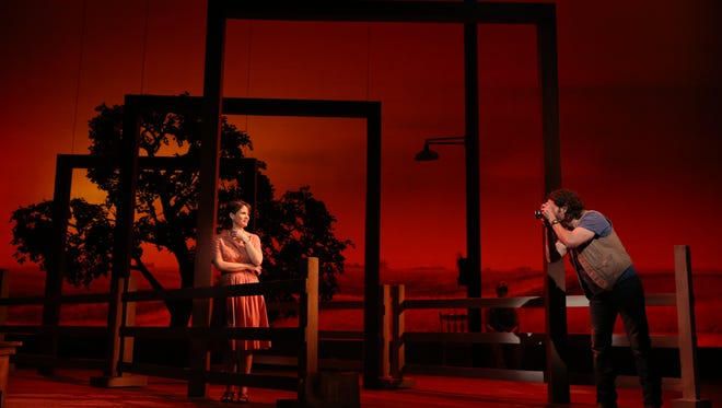 "The national tour of ""The Bridges of Madison County,"" shown here on Broadway, runs from Nov. 28 through Dec. 6 at the Des Moines Civic Center."