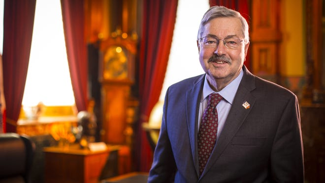 Iowa Gov. Terry Branstad on Jan. 7, 2014, at his ceremonial formal office in the Iowa Statehouse in Des Moines, Iowa.