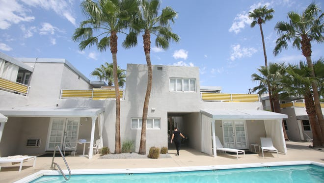 The Movie Colony Hotel in Palm Springs was designed by Albert Frey and constructed in 1935. The property was recently sold to the Pacifica Companies of San Diego.