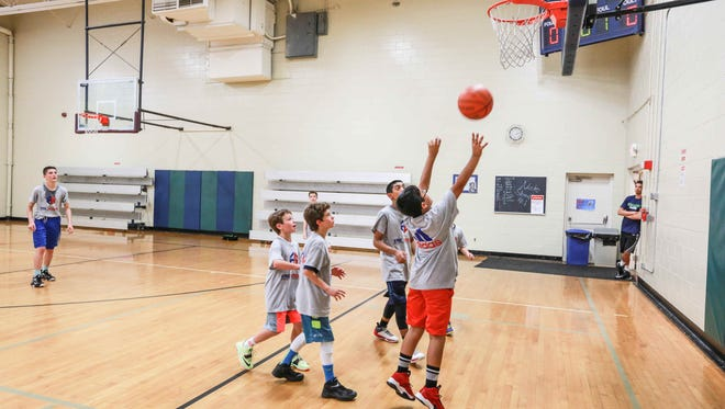 Campers scrimmage during the Eric Gordon Basketball Camp, June 8, 2015 at the JCC Indianapolis.