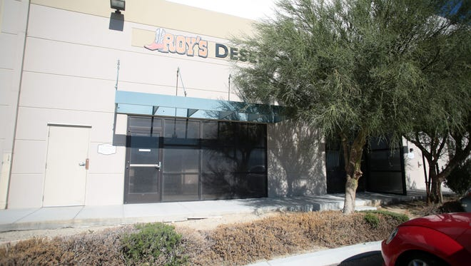 The entrance to Roy's Desert Resource Center in North Palm Springs on November 18, 2015.