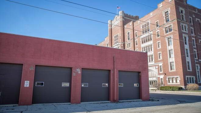The exterior of the GearBox makers hub Tuesday afternoon may not show the nearly million dollar interior investment expected for the facility by early summer. Tom Bracken along with others have voiced that it isn't the best use for the land, instead that it should be incorporated into a central city park.