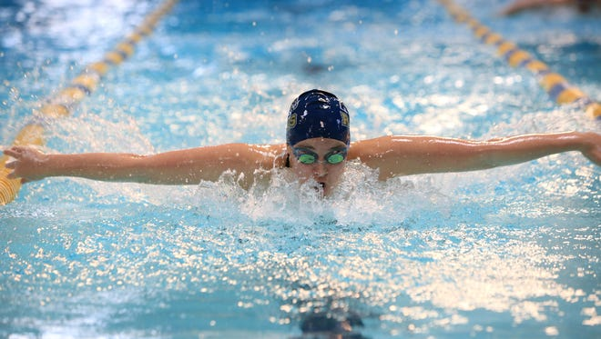 Swimmers from Asheville High, Erwin, Owen and Roberson competed in a meet Saturday in Skyland.