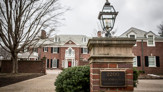 No activity can be seen at Ball State University's Bracken House, which serves as the home of the university president. Ball State President Paul Ferguson abruptly resigned on Monday with little explanation.